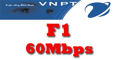 Gói cước cáp quang VNPT F1 tốc độ 60Mb