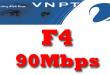 Gói cước cáp quang VNPT F4 tốc độ 90Mb