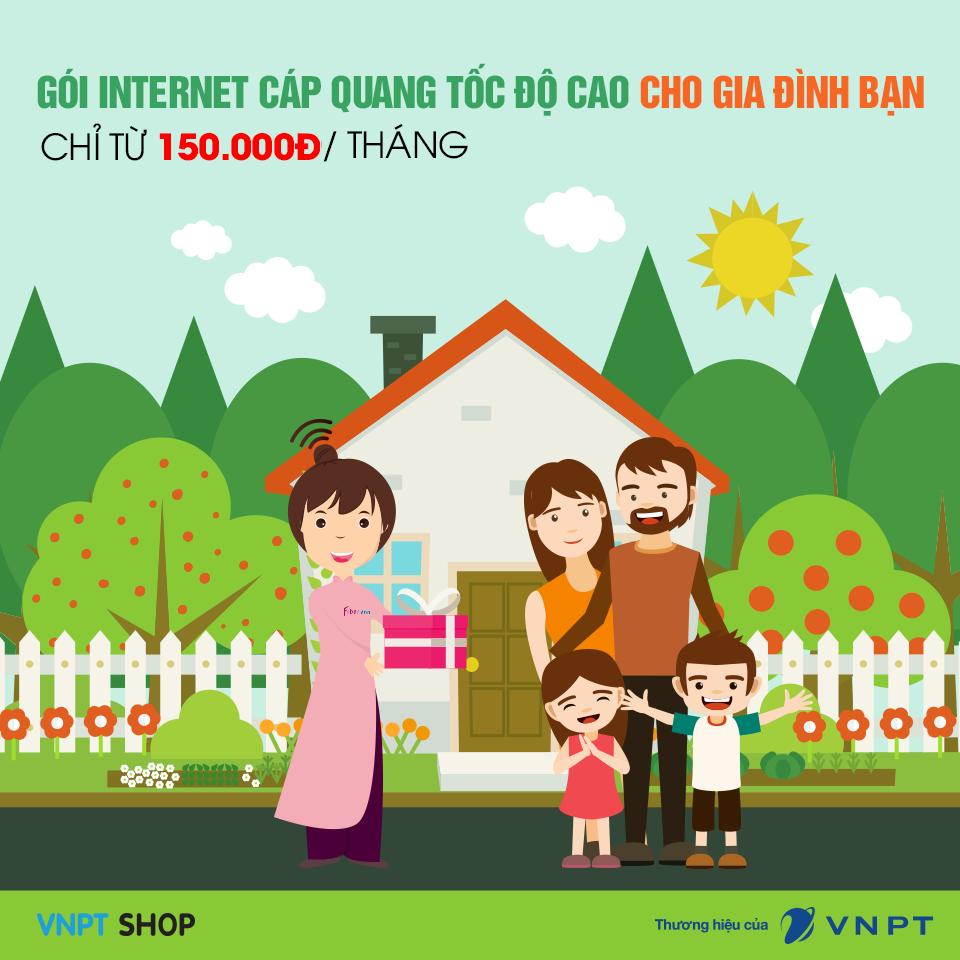 Gói cước cáp quang VNPT cho gia đình