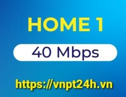 Gói cước cáp quang VNPT HOME 1 tốc độ 40Mb