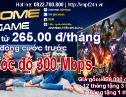 Cáp Quang VNPT – Gói Cước Home Game