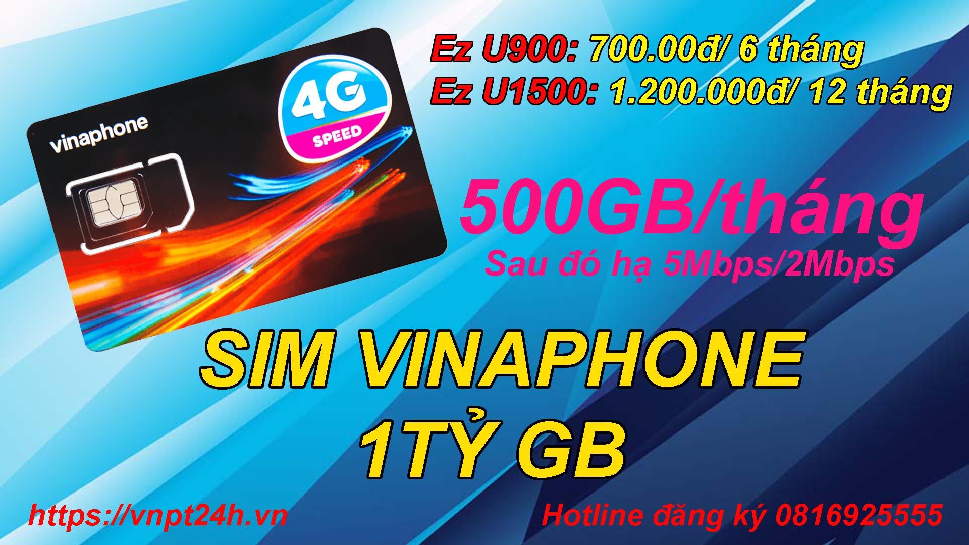Sim vinaphone 1 tỷ GB